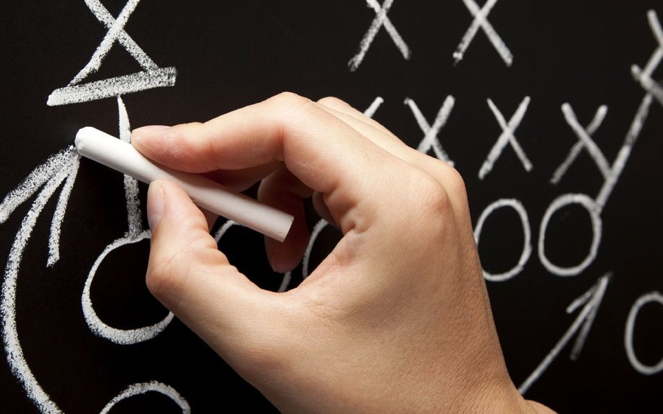 hand writing on chalkboard