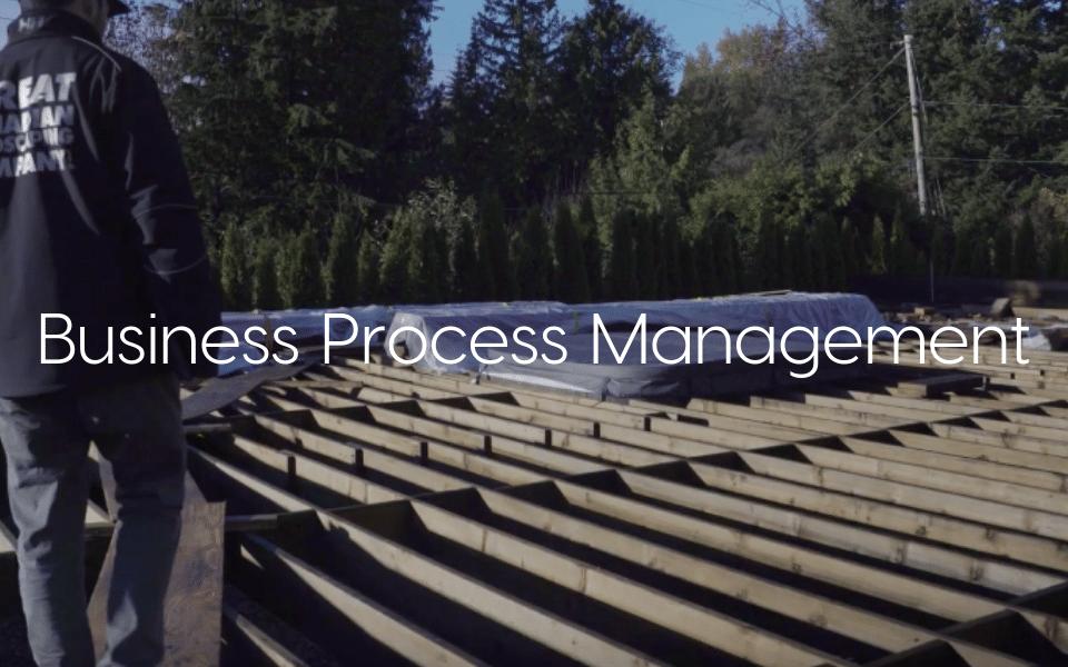"""Business Process Management"" - text over image deck being built"