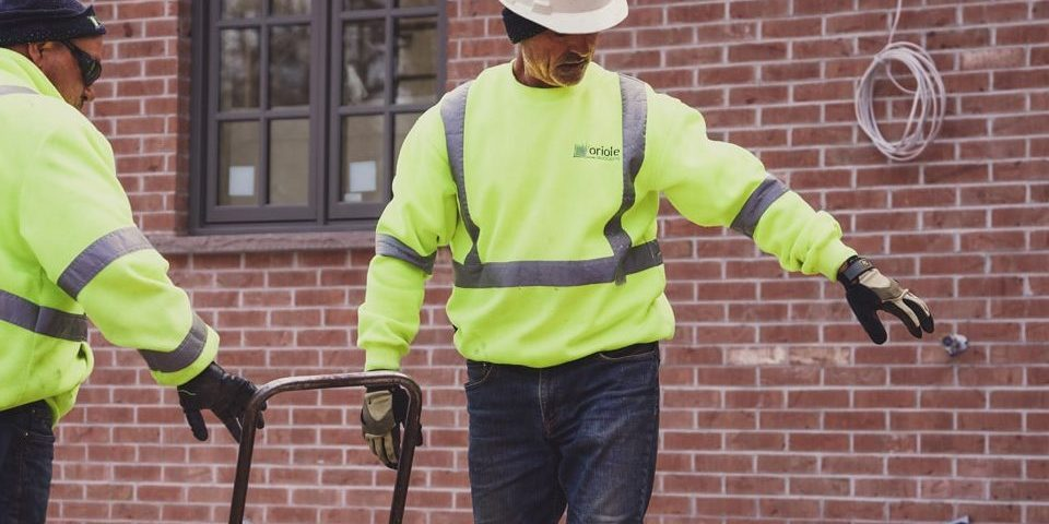 Foreman pointing on jobsite