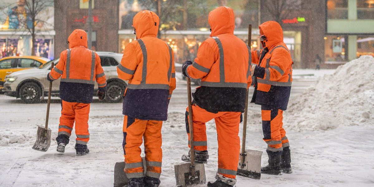 snow removal workers