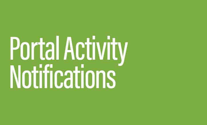 Portal Activity Notifications