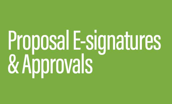 Proposal E-signatures and Approvals_