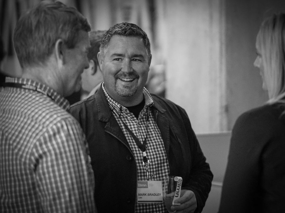 Mark Bradley LMN CEO at a networking event